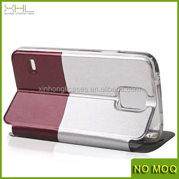 UMKU magnetic smart stay flip leather case for samsung galaxy S5