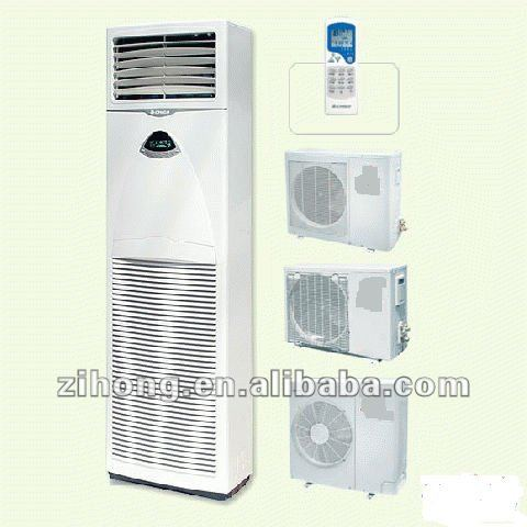 Low noise floor standing solar air conditioner, floor standing ac