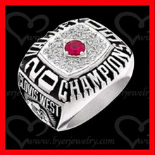 champions ring 2015 custom design with cz pave setting