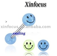 fashion smile acrylic tongue body piercing jewelry,tongue ring