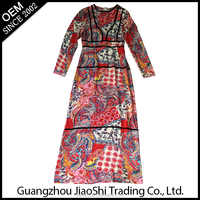 Summer traditional Hot Selling Fashion Women Dress Maxi Dress for old lady