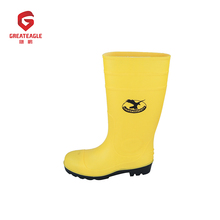 Protective fashionable rain boots custom used work boots high heel safety gumboots