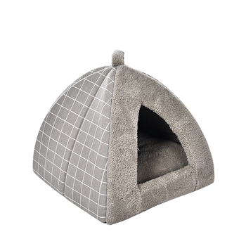 Tianyuan Pet Cat Sleeping Bag,Gray Fancy Cat Cave Bed,House For Cat