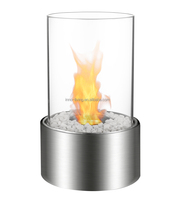 modern portable removable Stainless Steel table top bio alcohol fireplace design