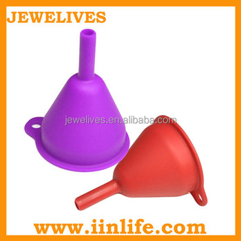 Standard with handle silicone wine conical pouring funnel