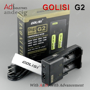 Vaping Golisi G2 battery charger 2 slots for 18650/18350/18500/18450/16650/26650 Li-ion