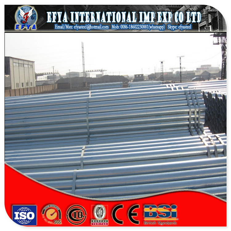 "Hot dip galvanized steel pipe BS 1387 water pipe EN 10255 5 "" (139.7MM)"