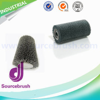 custom nylon drill polishing abrasive brush roller for wood steel with high quality