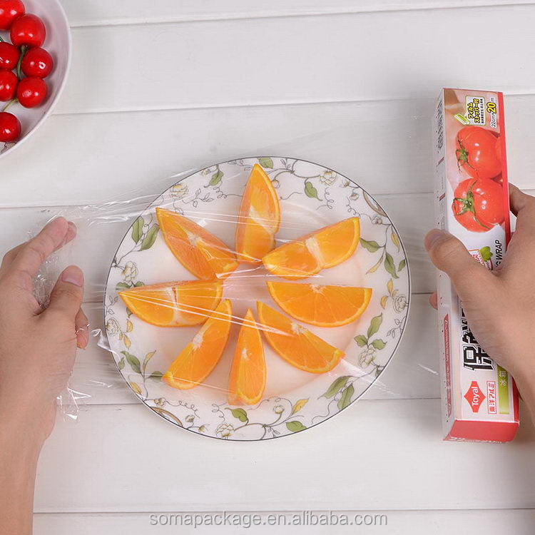 Special design best selling hot clear soft food packaging cling film