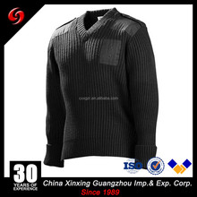 700gsm spring autumn men army sweater long sleeve jumper double free pattern jacquard 100%cotton