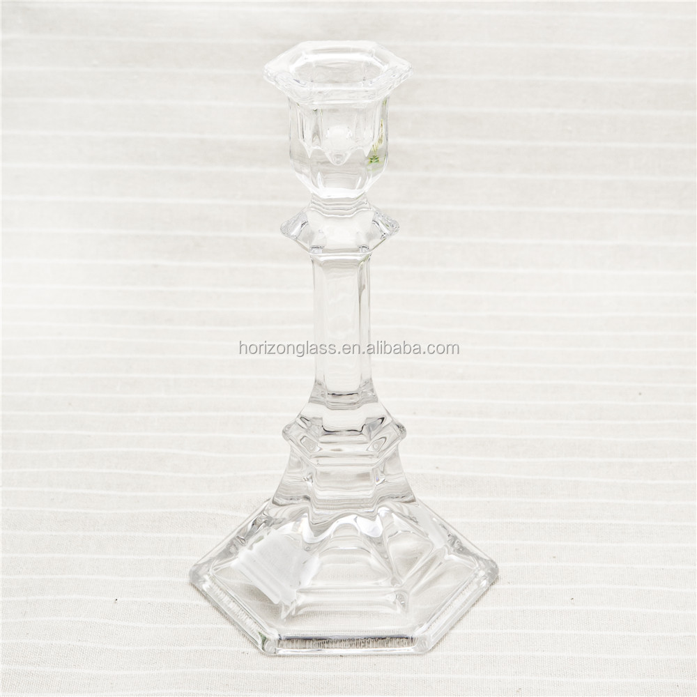 glass candle holders cheap/ glass candlestick holder/tall glass candle holders