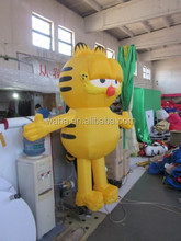 2014 hot selling yellow color inflatable Garfield for sale