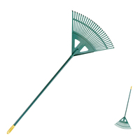 22 Tines Reinforced Plastic Rake with Long Handle