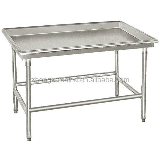 "30"" x 48"" Commercial Kitchen Stainless Steel Sorting Work Table"