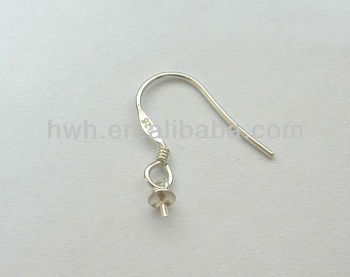 H480B Sterling Silver Earring Hook/Fish Hook Earring Finding