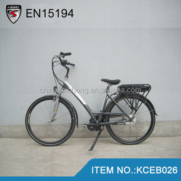 Germany quality city electric bike e bike 36V/250W China with bafang central/middle motor and LCD display