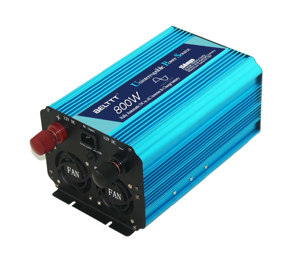 Hot Sale!!! DC to AC 800W Pure Sine Wave Power Inverter with Battery Charger CE approval