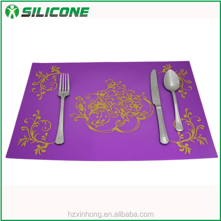 Hot sale antislip reuasble rainbow colorful silicone anti kids placemat