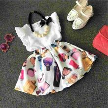 2pcs Toddler Baby Girls Infant Outfits Tops T-shirt+Skirt Dress Kids Clothes Set baby clothes set