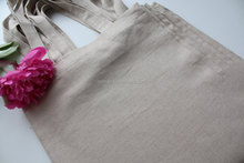 great quality simple linen tote bag