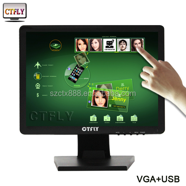full hd 14 inch lcd monitor 15 inch All in One LED Touch Screen Monitor with Wifi