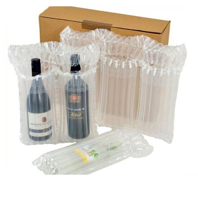Free Sample Triple Wine Bottle Inflatable Air Column Bag Filling