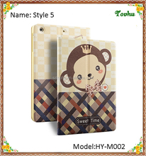 For iPad mini 1 2 3 Stand Case Shy Monkey Kids Flip Folio Leather Smart Cover