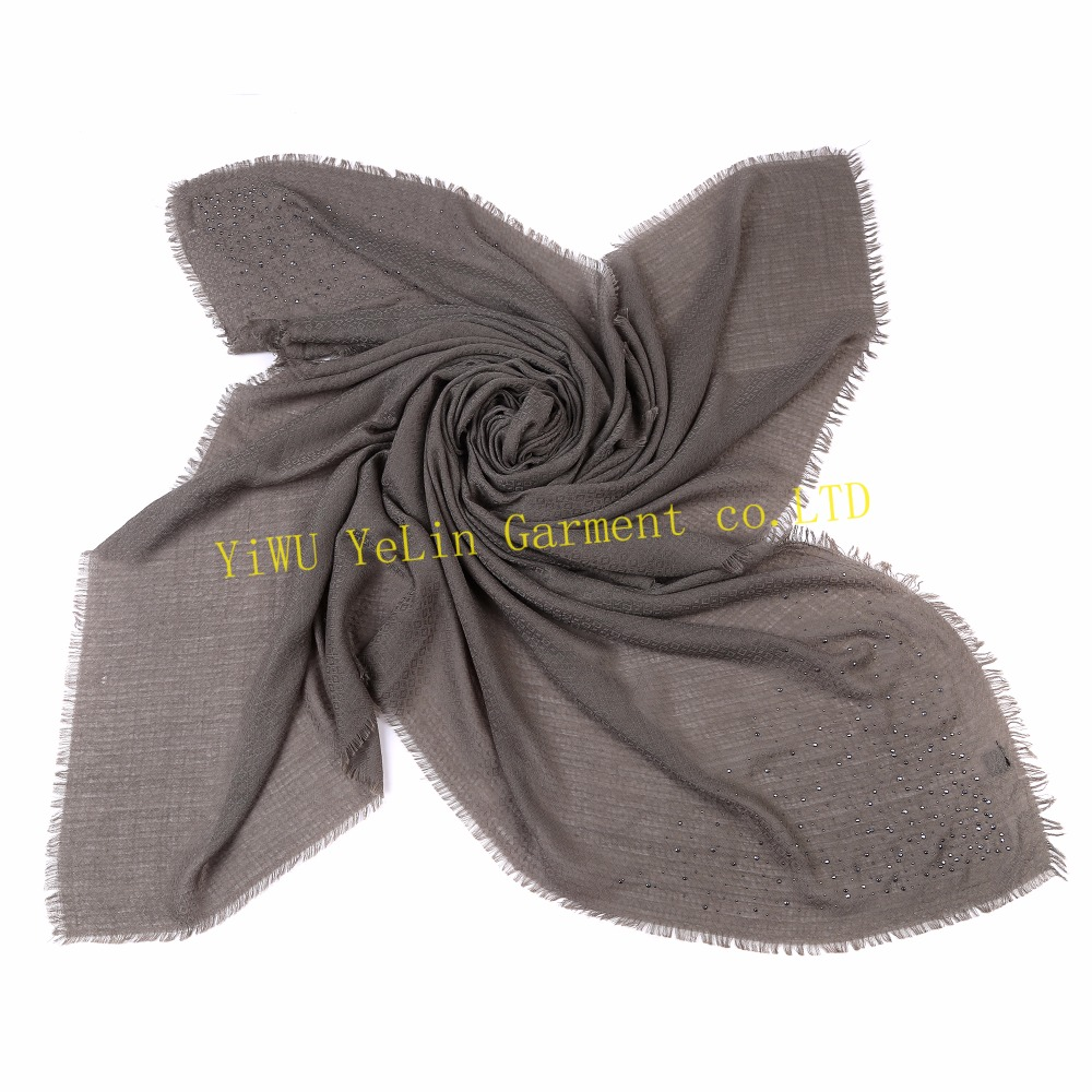 new arrival fashionable good character manufacturers glitter jewel dyed lady square scarf