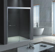 deluxe tempered sliding shower glass partition