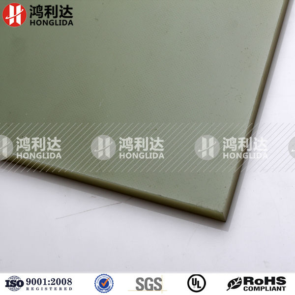 Glass sheets reinforced by epoxy resin