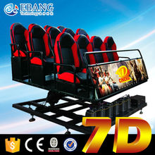 Flying chair control by electric servo 7d cinema simulator with excited game