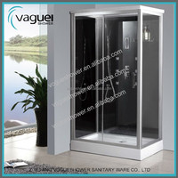 New Black Frame 5Mm Glass Tempered Steam Shower Room