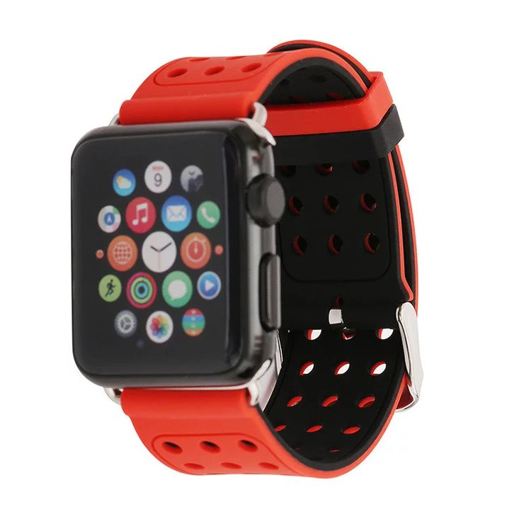 38mm/42mm Silicone Strap for Apple Watch with Siamese Sleeve,for Apple Watch Silicone Band