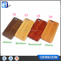 Engraved logs Customized Design OEM For iPhone 6 Real Wooden Cell Phone Case For iPhone 6S Case 100% Wood Factory Price