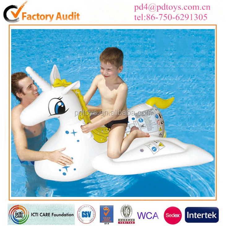 2016 New Products Giant Inflatable unicorn Float Toy Summer Entertainment Water Sport 6P PVC Ride