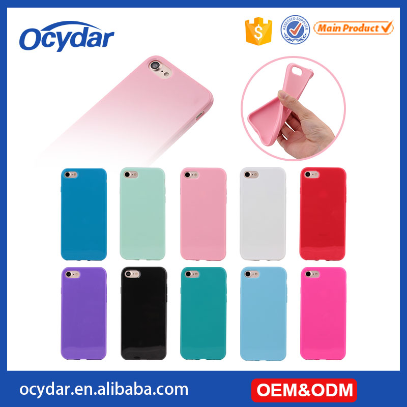 Hot Selling Wholesale Soft TPU Mobile Phone Case for iPhone 7, for iPhone 7 Cover