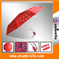 "21""*8K high quality strong auto open and auto close 3 fold umbrella"
