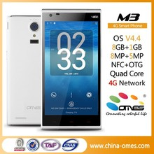 Very New Model OMES Mobile M3 5inch 5 inch HD IPS Quad Core 4G FDD LTE Android 4.4 custom brand smartphone