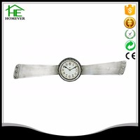 silver color unusual wrist watch shape wall clock for sale