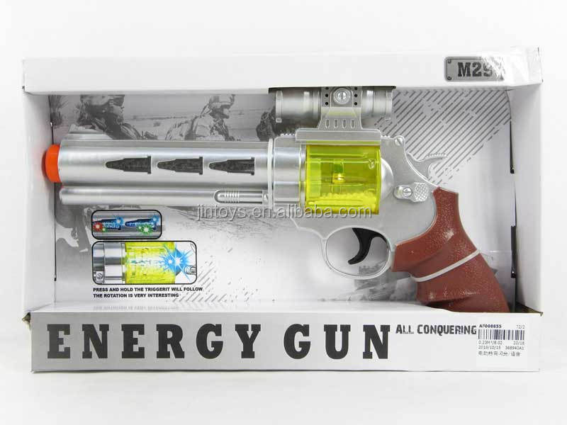 Promotional toy electronic price label gun with flash light and sound, gun toys for wholesale, AF008855