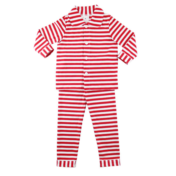 2016 Wholesale red strip hot sale unisex baby clothes kigurumi pajamas christmas pajamas family kids pajamas