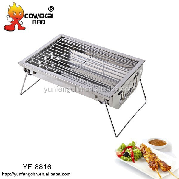 Small korea outdoor charcoal BBQ grill table for parties