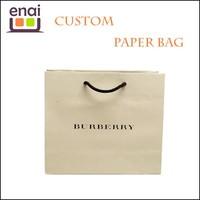 Luxury brand pantone color promotional paper bag wholesale