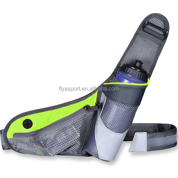 Running belt with water bottle