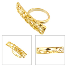 cheap wholesale ring D Shaped Hollow-out Carved Gold Rings name designs