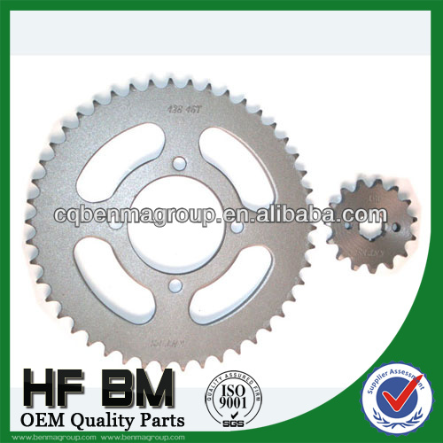 1045 zinc sprocket 428 46T,transmission heating motorcycle sprocket set,rear and front sprocket motorcycle,with OEM quality