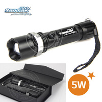 High power geepas rechargeable led flashlight, long beam led rechargeable flashlight