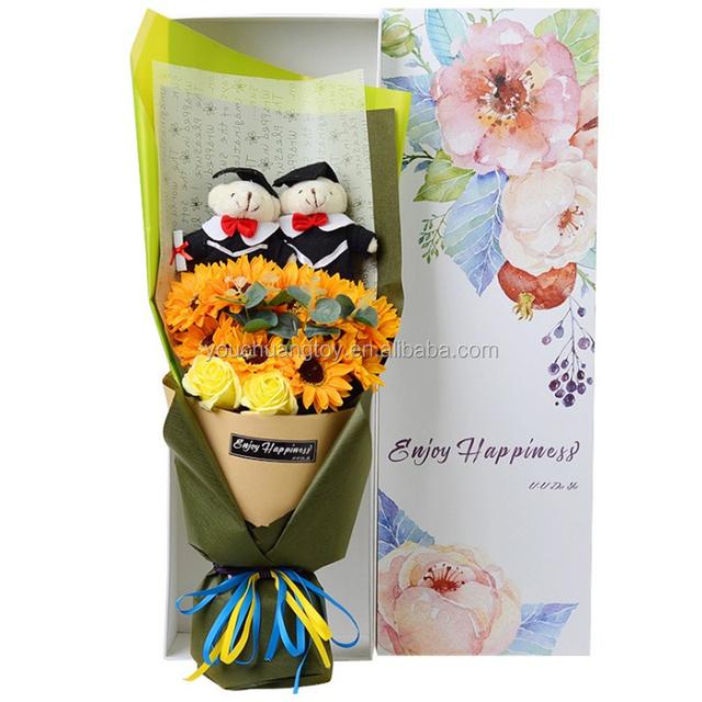 custom gift soft bear plush toy teddy graduation bear bouquet
