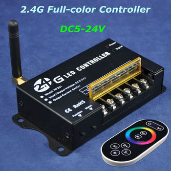 2.4G RF wireless led full-color rgb controller with remote for led strip bar rigid light