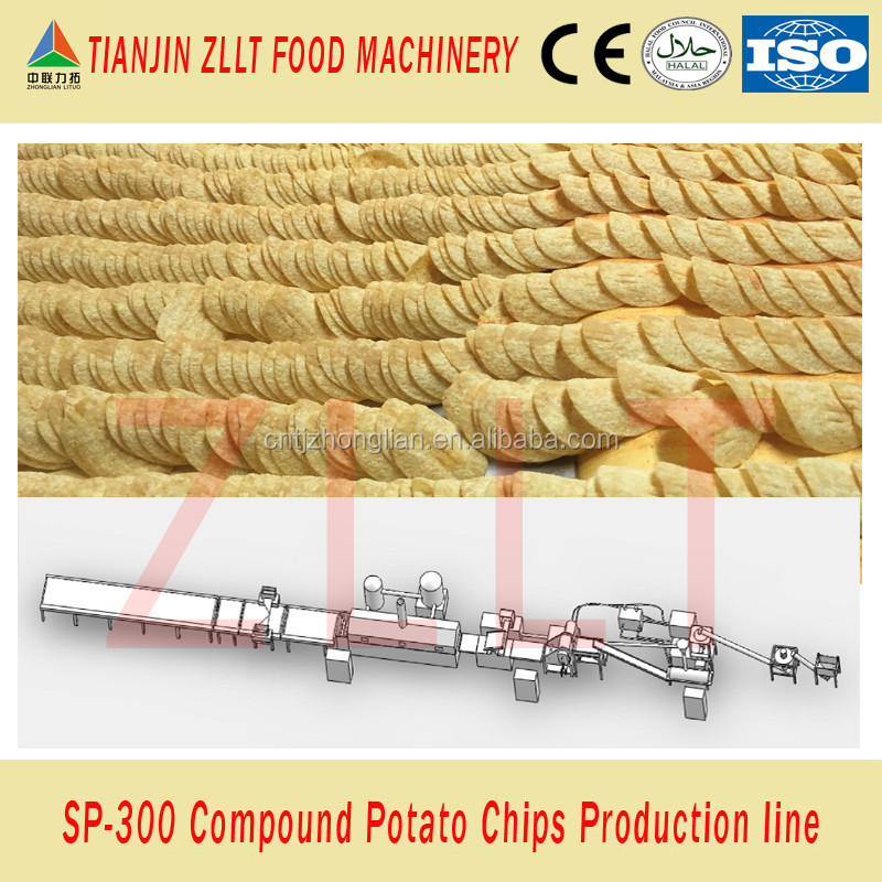 Large scale Pringles potato chip production line